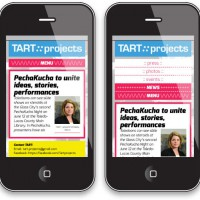 Tart Projects - mobile site