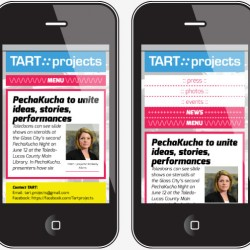 Tart Projects - mobile layout