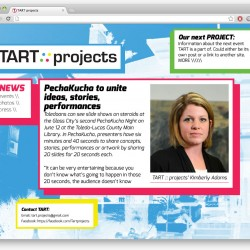 Tart Projects - webpage layout